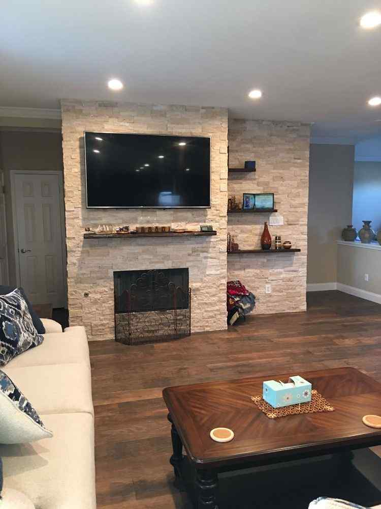 Stone Flooring & Fireplace Installation in Tomball TX